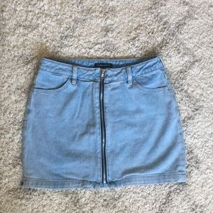 Kendall & Kylie Denim Zipper Skirt